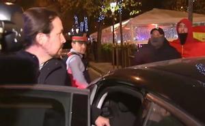 Pablo Iglesias, increpado al grito de «maricón» e «hijo de puta»