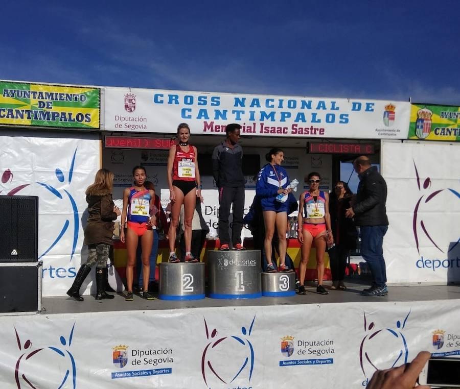 Urbina y Benabbou suben al podio en el Cross de Cantimpalos