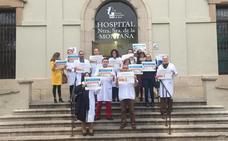 Protesta de los médicos del área de salud