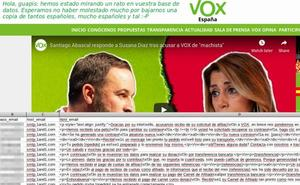Anonymous golpea a Vox