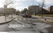 Dos personas heridas tras una colisión en el barrio cacereño de Casa Plata
