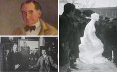 El genial mudo que hacía esculturas de nieve en Cáceres