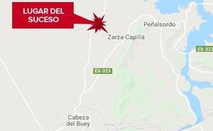 Tres mujeres heridas, una de ellas muy grave, tras un choque frontal cerca de Zarza Capilla