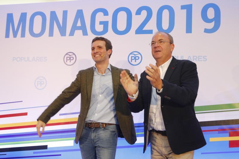 Casado presenta en Cáceres a Monago como candidato del PP a la Junta de Extremadura