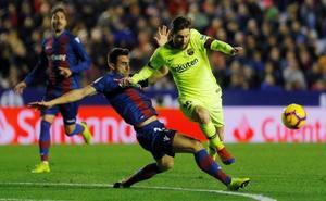 El líder galopa a lomos de Messi