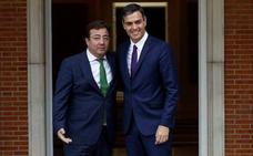 Fernández Vara se reúne hoy con Pedro Sánchez para analizar la situación política