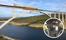 Adif completa la construcción del tablero del viaducto del río Tajo