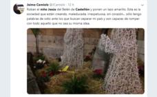 Cambian la figura del Niño Jesús del belén de Castellón por un lazo amarillo