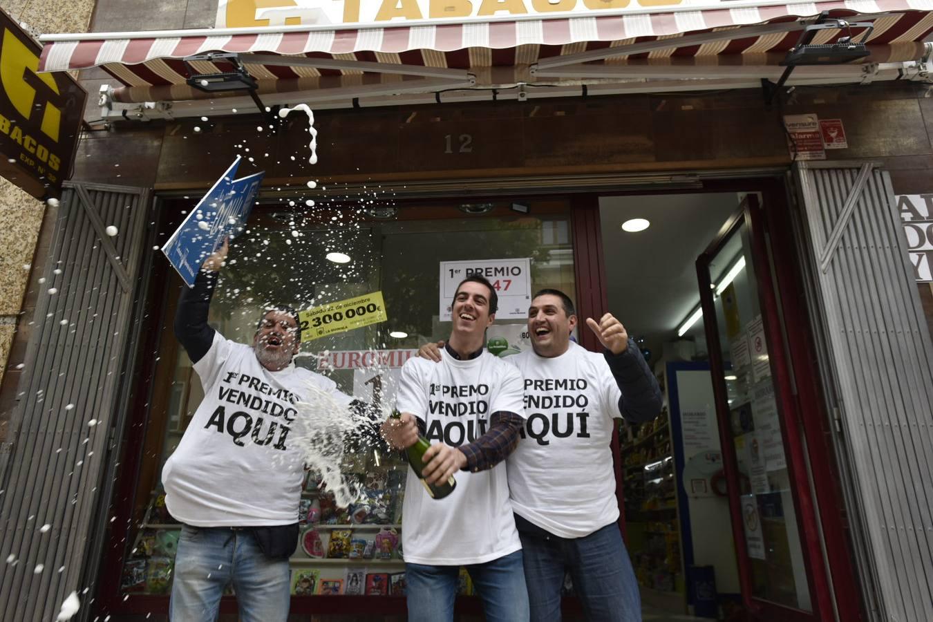 Celebración de los premios de la Lotería de Navidad en Extremadura