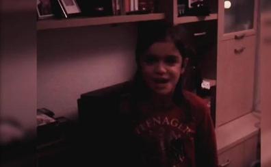 Amaia Romero felicita la Navidad con un vídeo de su infancia