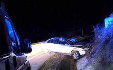 Dos heridos tras una salida de vía en la A-66, cerca de Fuente de Cantos