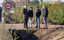 Diputación ejecuta más obras en la carretera de Las Arenas, en Don Benito