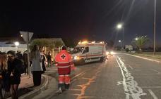 El dispositivo de Cruz Roja en Badajoz en Nochevieja atiende un herido leve en una riña familiar