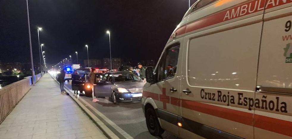 Un hombre de 29 años resulta herido en un accidente en Badajoz con tres vehículos implicados