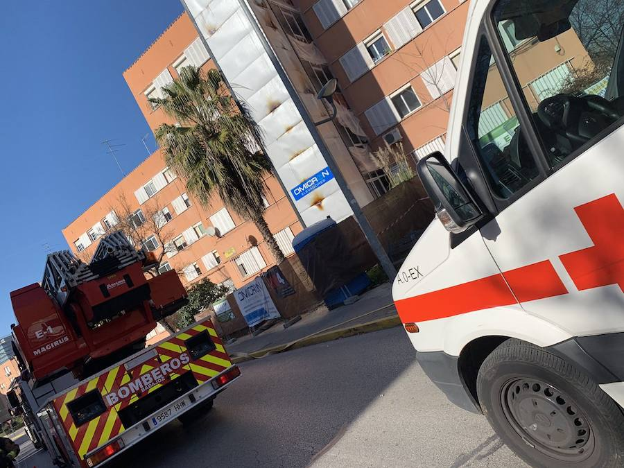 Evacuado un edificio en Badajoz por un fuego en el hueco del ascensor