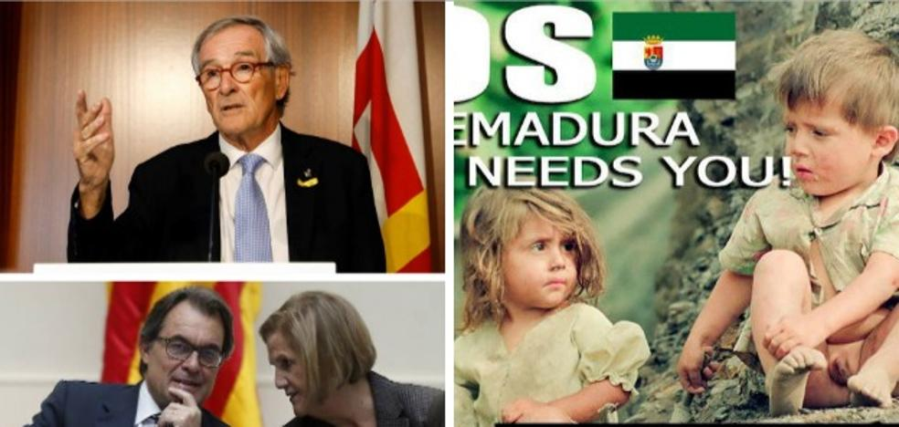 Tres décadas de encontronazos entre políticos catalanes y extremeños