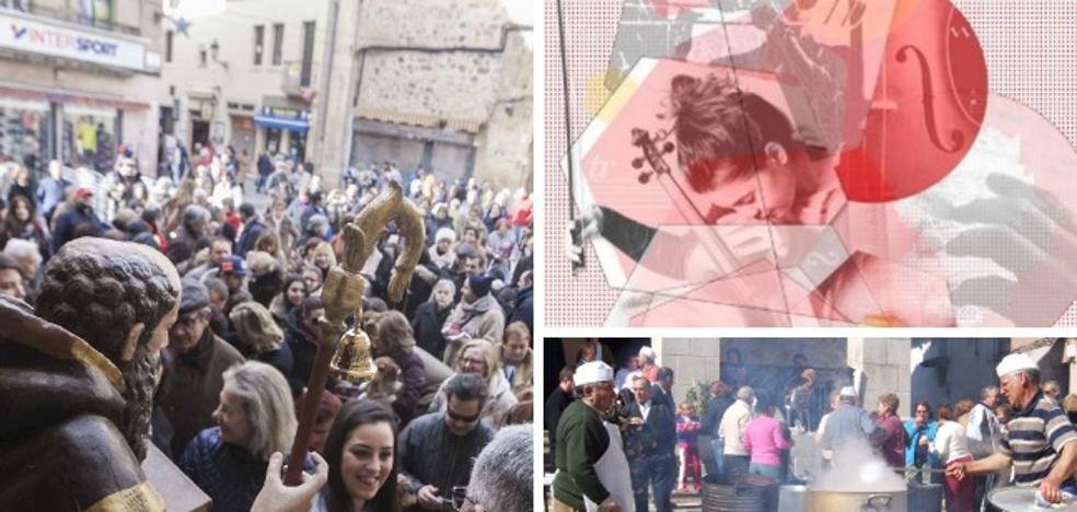 San Antón, jóvenes músicos y matanzas extremeñas