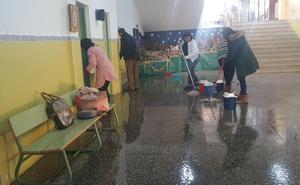 La rotura de una tubería en el colegio Extremadura de Cáceres inunda seis aulas de Infantil