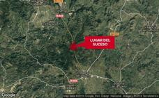 Dos personas resultan heridas en un accidente de tráfico en la N-435 cerca de Fregenal de la Sierra