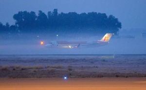 La niebla también aisla a Extremadura