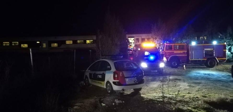 El tren Zafra-Madrid descarrila en Torrijos con 36 pasajeros