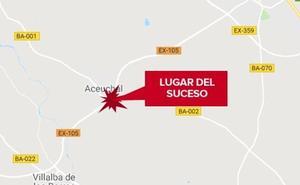 Una mujer de 49 años resulta herida grave tras un atropello en Aceuchal