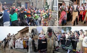 Las Carantoñas y el Jarramplas brillan en un fin de semana lleno de tradición