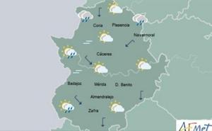Jueves nublado, con nieblas y lluvias dispersas