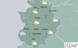 Posibles lluvias en el oeste de Extremadura