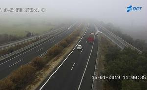Avisos por bancos de niebla de la DGT en Extremadura