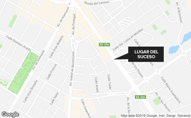 Detenido por robar de un tirón dos bolsos a un grupo de mujeres en Cáceres