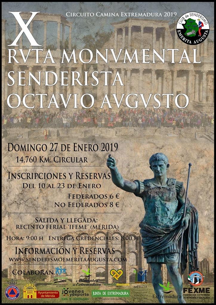La Ruta Monumental Octavio Augusto de Mérida celebra el 27 de enero su décima edición