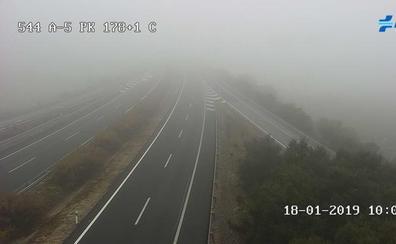 La DGT advierte por visibilidad reducida por bancos de niebla en varias carreteras extremeñas