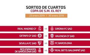 Sevilla-Barça, duelo estrella en cuartos