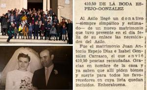 HOY vuelve a cubrir en Badajoz la boda Espejo-González 50 años después