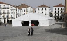 La carpa de Carnaval de la Plaza de Cáceres tendrá 800 metros y techo transparente
