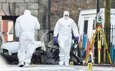 Dos detenidos por la explosión de un coche-bomba en Londonderry