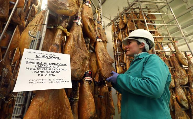 China supone ya el 15% de las exportaciones de productos ibéricos
