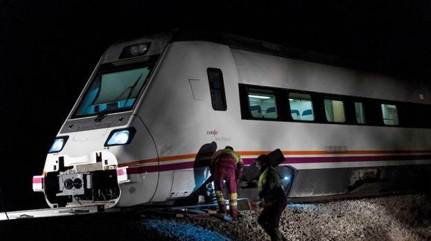 Adif no tiene conclusiones sobre el descarrilamiento del tren en Torrijos