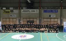 Presentación oficial en Coria de la AD Caurium en Coria, que apuesta de nuevo por el baloncesto base