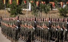 Casi 1.300 alumnos juran bandera este sábado en el Cefot de Cáceres