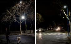 Nueve calles de Badajoz estrenan más focos porque las nuevas led no iluminan lo suficiente
