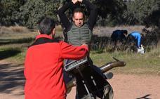 Javier Valdeoro vuelve a entrenar tras su lesión