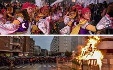 Las candelas inician un mes de Carnaval en Badajoz