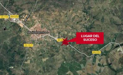 Dos heridos en una salida de vía a dos kilómetros de Montehermoso