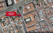 Herido en Badajoz un motorista al chocar en un cruce con un vehículo