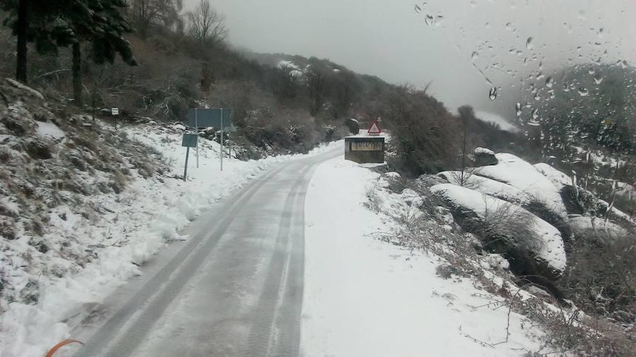 Primera nevada de 2019 en Extremadura