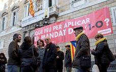 La ANC se planta frente al Palau de la Generalitat para que Torra haga efectiva la república