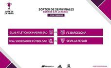 Atlético-Barcelona, duelo estrella de las semifinales de la Copa de la Reina