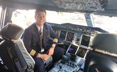 Un pacense a los mandos del avión más grande del mundo